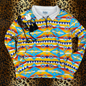 Yellow Aztec Pullover