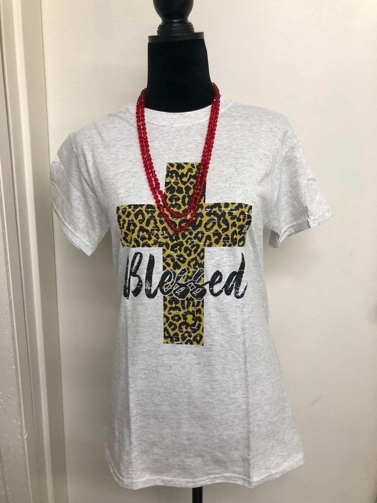LEOPARD BLESSED TEE Youth & Adult