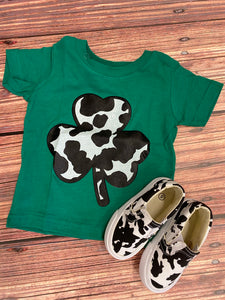 Cow Clover Kids Tee