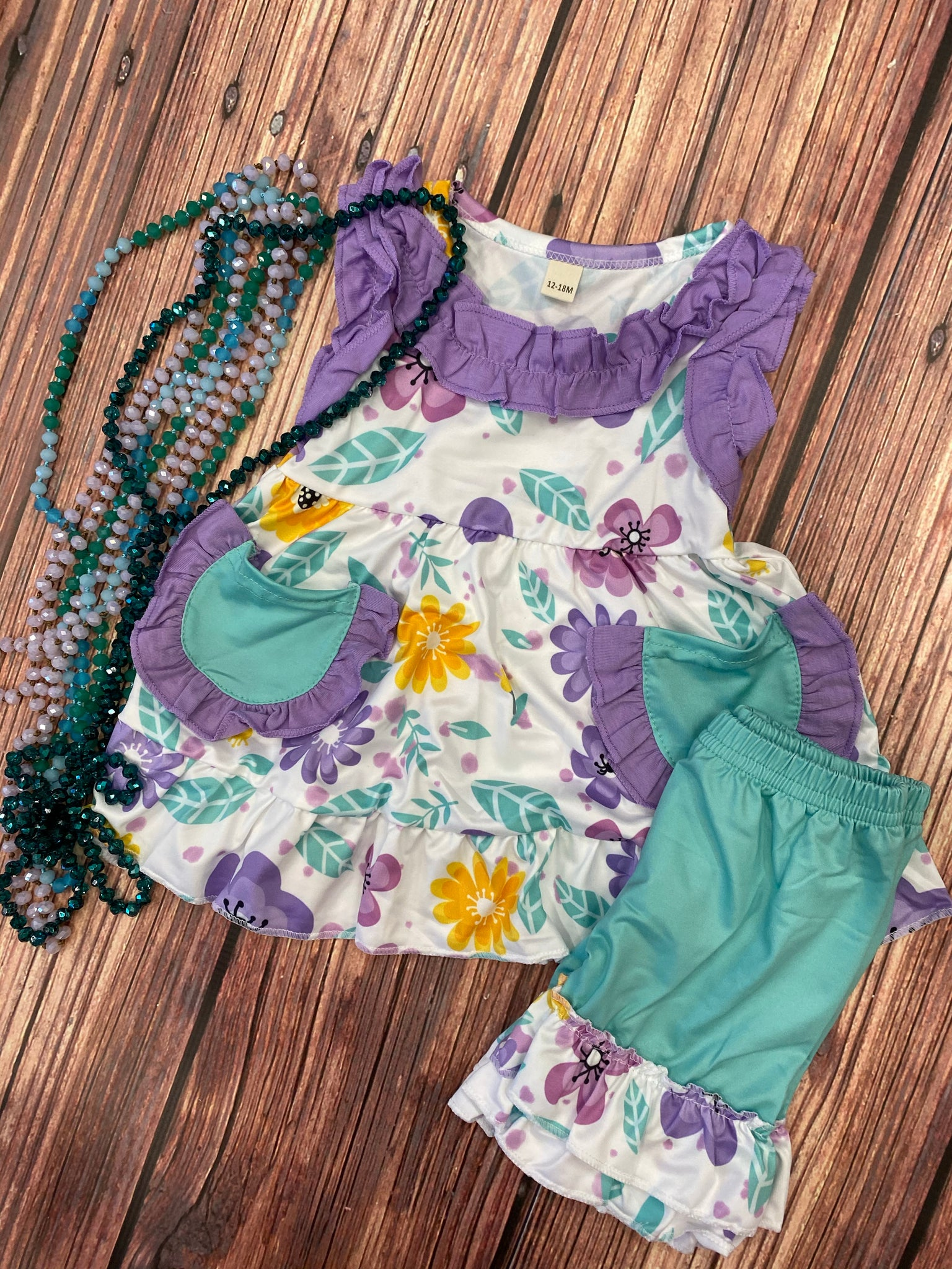 Purple & Mint Floral Set