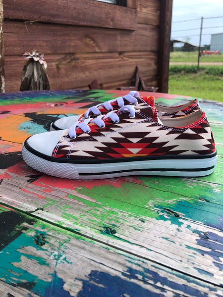 Aztec Red Shoe