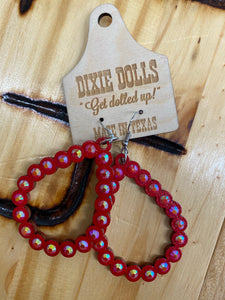 Dolly Wood Earrings Red