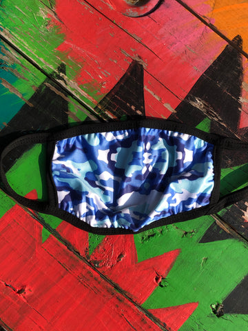 Blue Camo Adult Mask