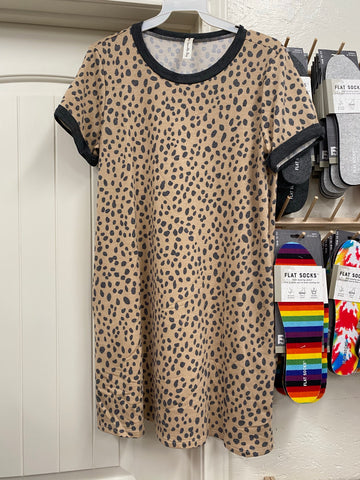 Taupe Leopard Dress
