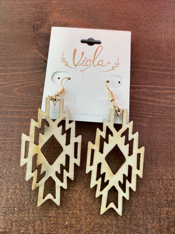 Natural Aztec Earrings