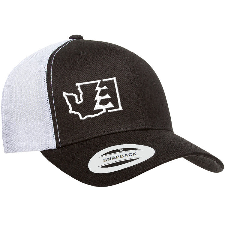 State Tree WA Trucker Hat Black/White