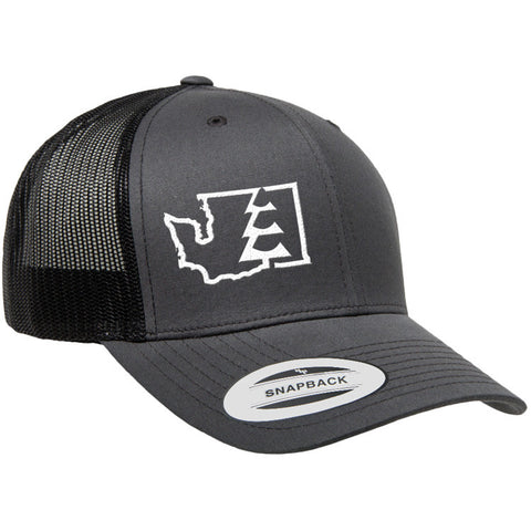 State Tree WA Trucker Hat Charcoal/Black