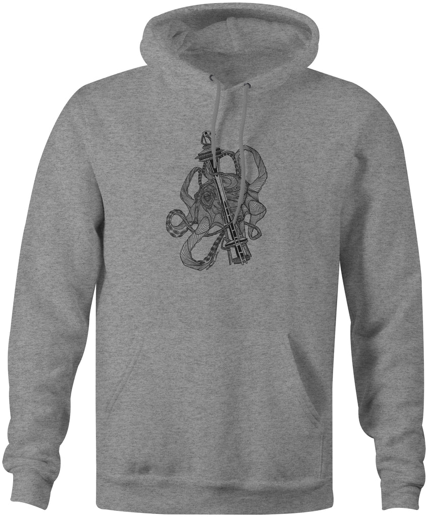Kraken Space Needle Hoodie Gunmetal Heather