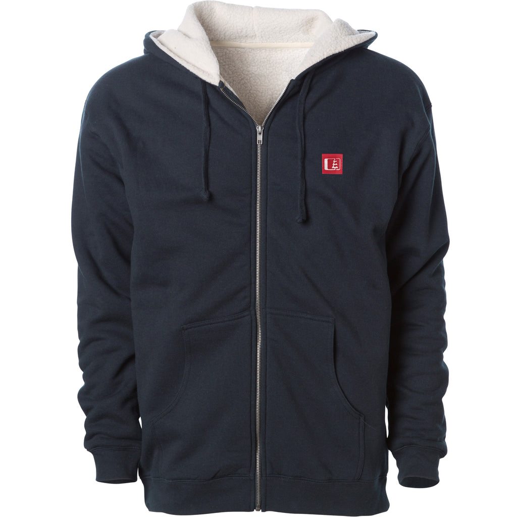 Kulshan Sherpa Lined Heavyweight Hoodie Navy/Natural