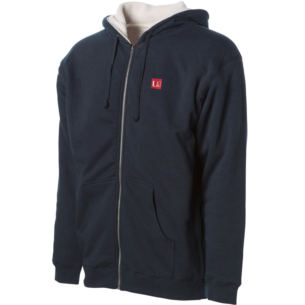 Kulshan Sherpa Lined Heavyweight Full Zip Hoodie Navy/Natural