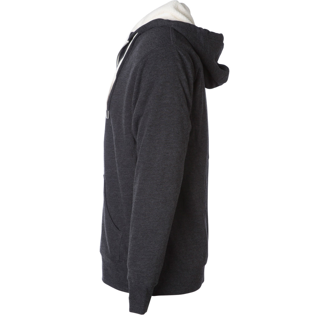 Sherman Sherpa Lined Hoodie Charcoal Heather