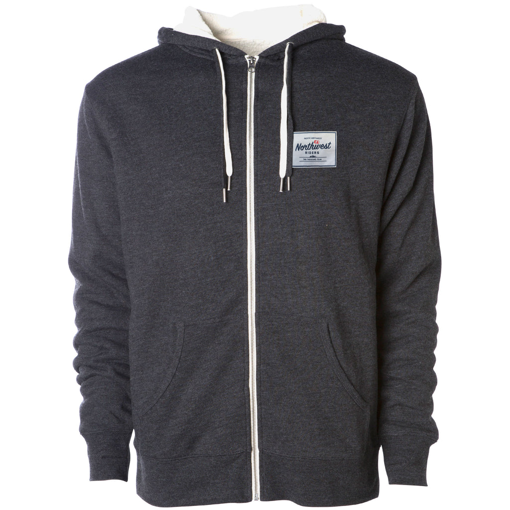 Sherman Sherpa Lined Full Zip Hoodie Charcoal Heather