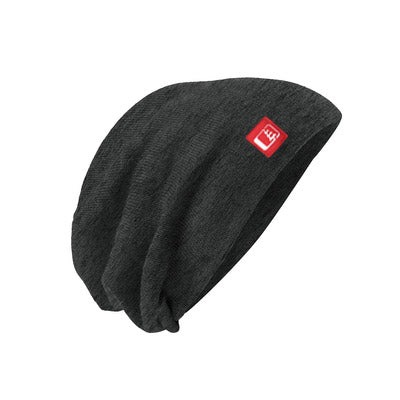 Slouch Beanie Charcoal/Red