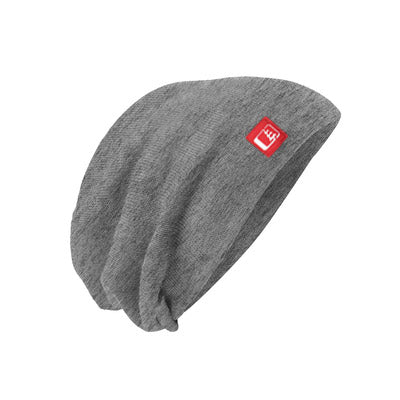 Slouch Beanie Grey/Red