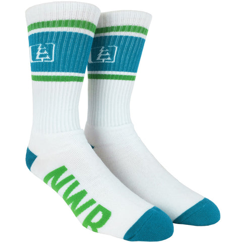 SoleTree Socks White/Blue/Green