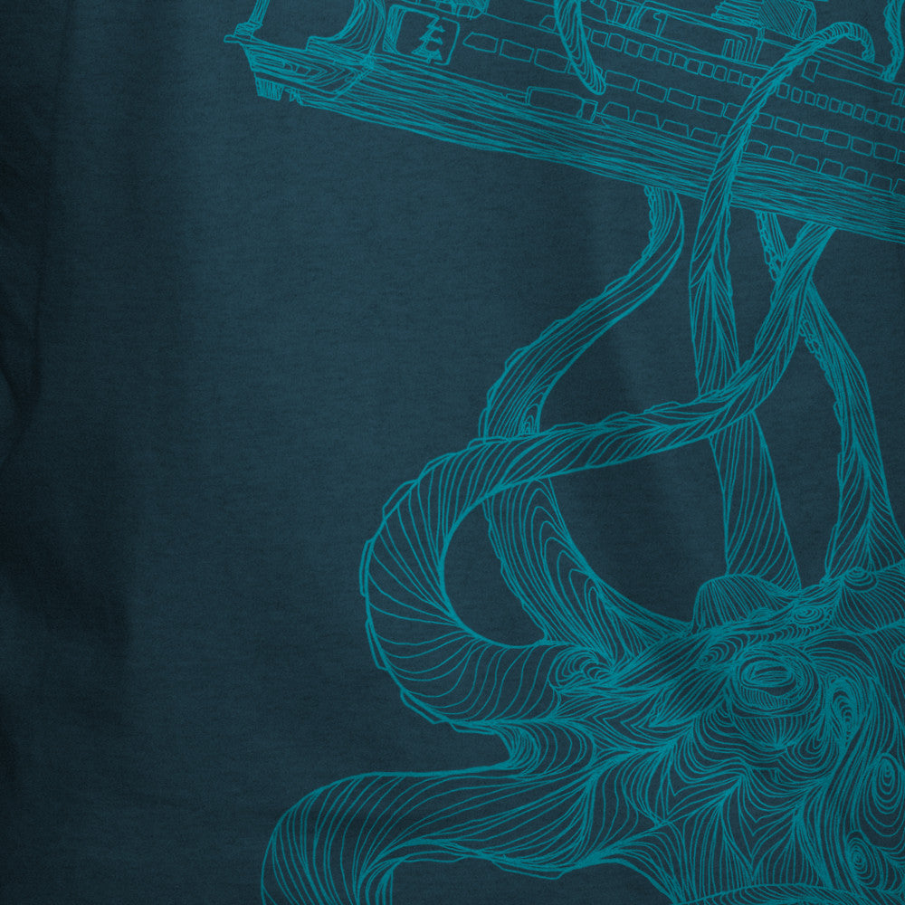 Kraken Ferry T-Shirt Indigo Heather