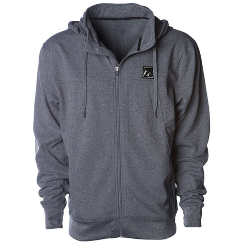 Tilt Zip Tech Hoodie Gunmetal Heather