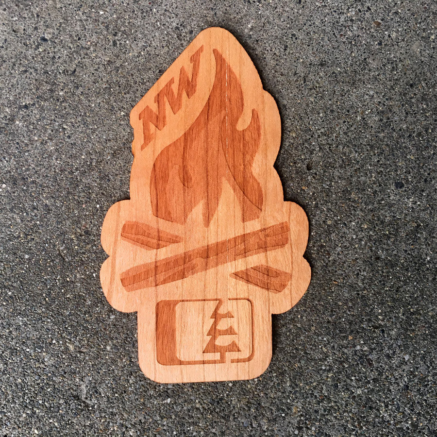 Campfire Wood Sticker Cherry