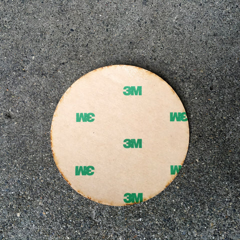 NW Circle Wood Sticker Cherry