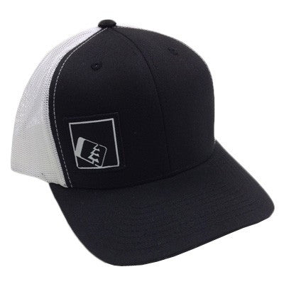 Tilt Trucker Hat Black/White