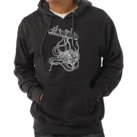 Kraken Hoodie Charcoal Heather