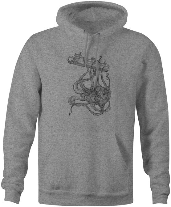 Kraken Ferry Hoodie Gunmetal Heather