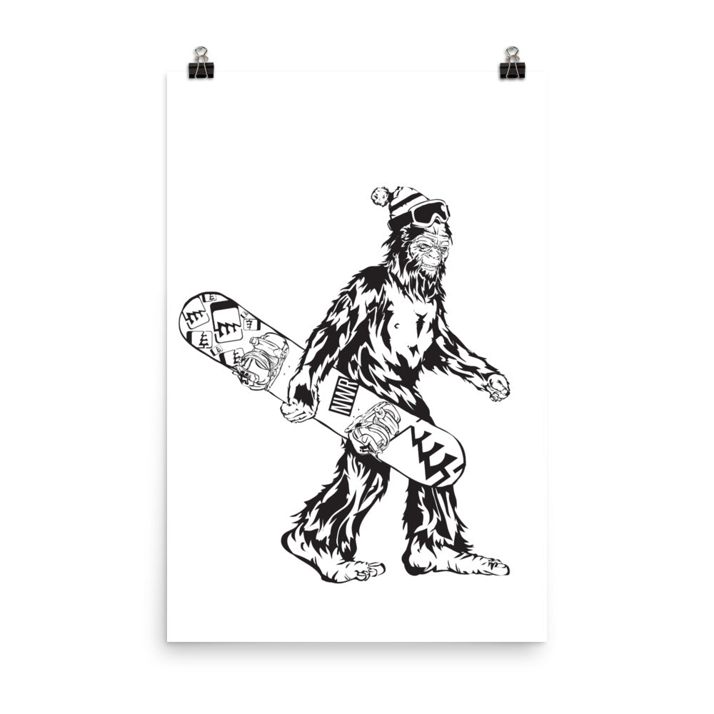 SnowSquatch Poster (Matte)