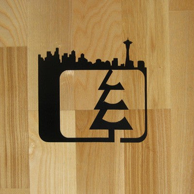Skyline Small Sticker Black