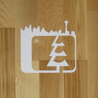 Skyline Small Sticker White