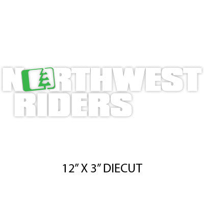 Drop Sticker Green/White