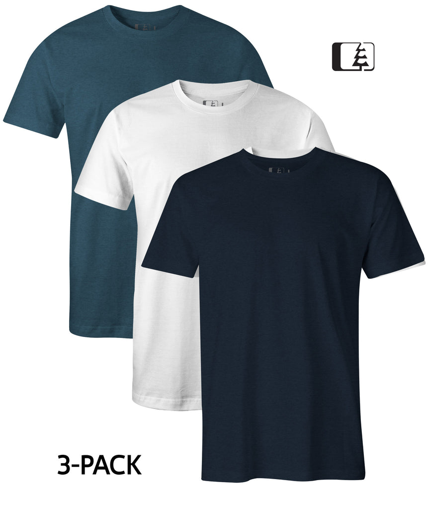 3-Pack 60/40 Blend T-Shirt Navy/White/Indigo