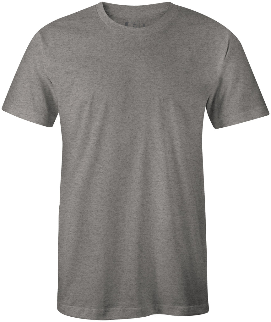 Blank Midweight 60/40 Blend T-Shirt Dark Grey Heather