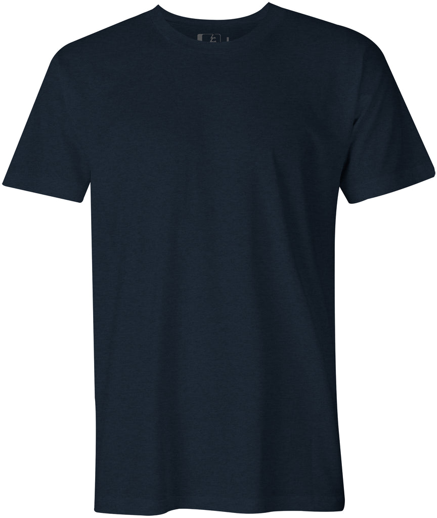 3-Pack Midweight 60/40 Blend T-Shirt Midnight Navy Heather