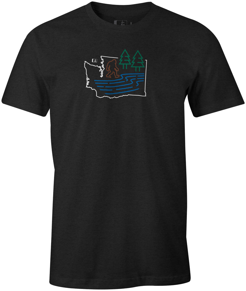 Bigfoot River T-Shirt Charcoal Heather