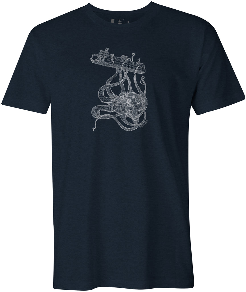 Kraken Ferry T-Shirt Midnight Navy Heather