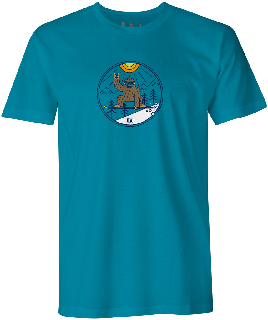 Shred Squatch Bigfoot T-shirt  (DTG: Delayed Ship)