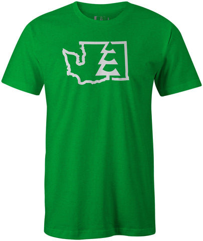 State Tree WA T-Shirt Kelly Heather