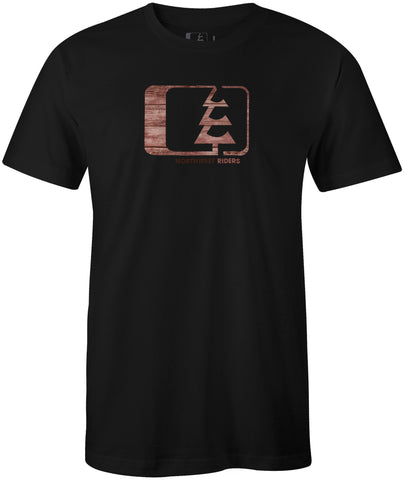 Woodgrain T-Shirt Black