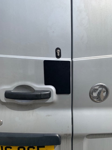 NV300 TWIN REAR DOOR LOCKSHIELD