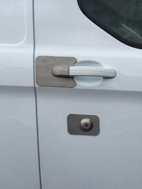 Custom 13 drivers door lock blank Armaplate