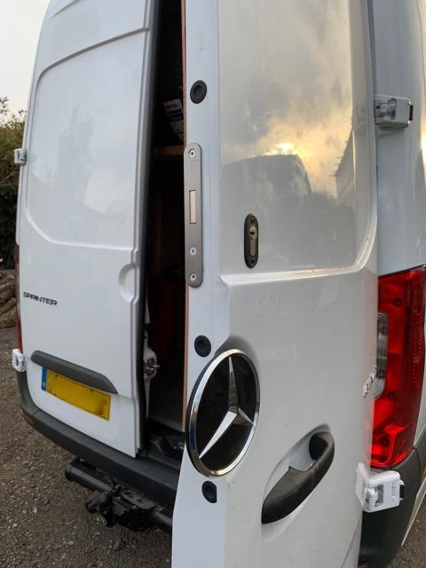 New Mercedes Sprinter 2018 rear door deadlock