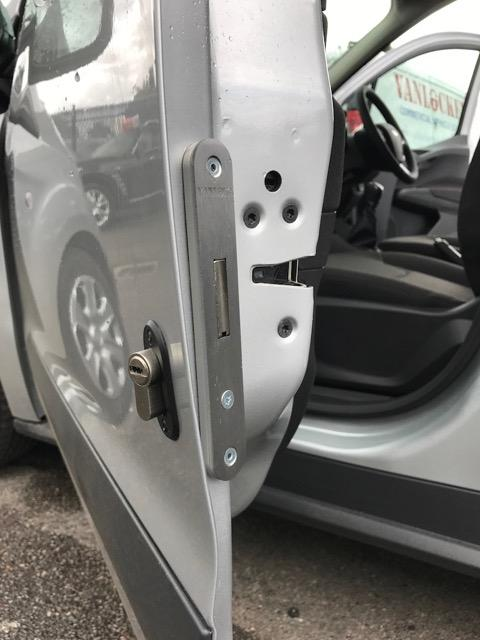 Transit Courier cab door deadlock