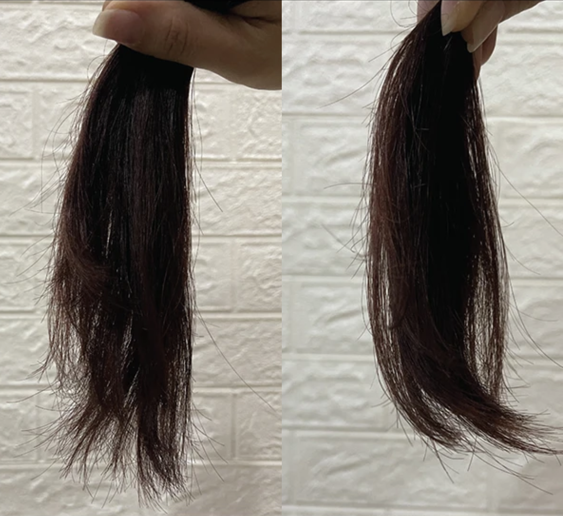Before using hair rescue for healthy hair