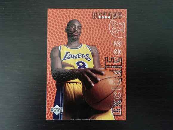 Kobe Bryant 1996-97 Upper Deck Rookie Exclusives R10 Insert Card, NBA