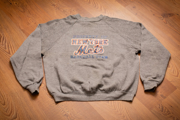 80s Property of New York Mets Sweatshirt, XS/S, Vintage, Rayon, Baseball Club