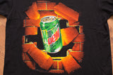 90s Mountain Dew T-Shirt, L, Vintage Tee, Breaking Brick Wall, Skater, Soda Pop