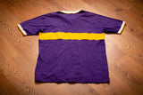 90s Minnesota Vikings Polo T-Shirt, L, Vintage Tee, NFL Team, Embroidered Logo