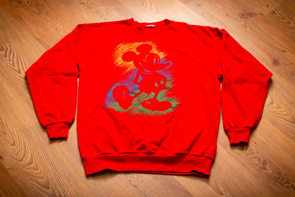90s Mickey Mouse Scribble Sweatshirt, M/L, Vintage Crewneck Shirt, Disney