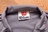 80s Wilson Color Block Track Jacket, S/M, Vintage Zip Shirt, Gym Workout, Fitness