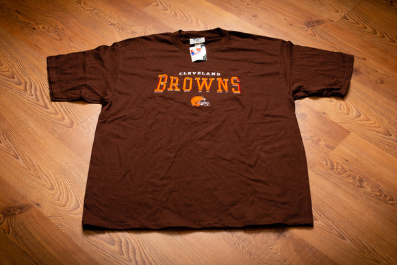 90s NWT Cleveland Browns T-Shirt, XL, Vintage Tee, NFL Football, Embroidered